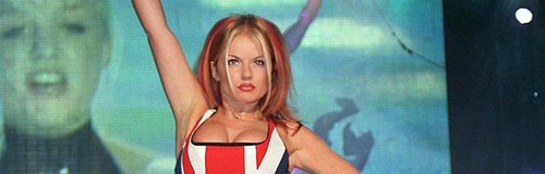 Geri Halliwell's union jack dress at the brits
