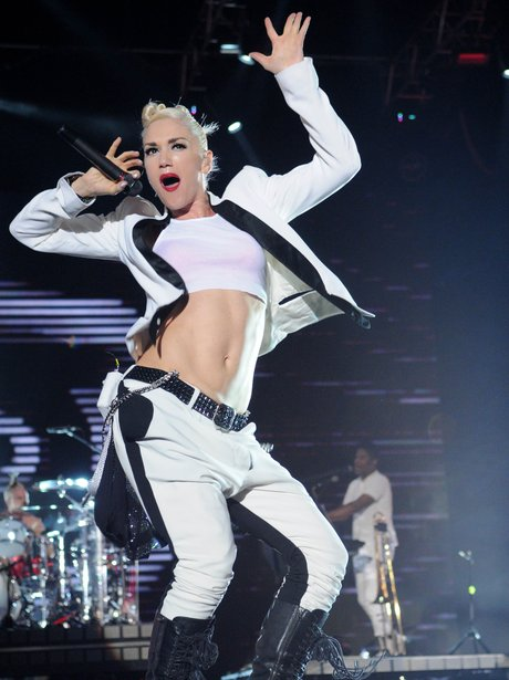 Gwen Stefani performs live on stage