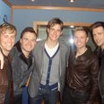 Kevin Hughes with Westlife
