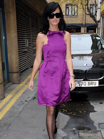 Katy Perry arrives in London