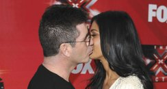 Nicole Scherzinger and Simon cowell kissing