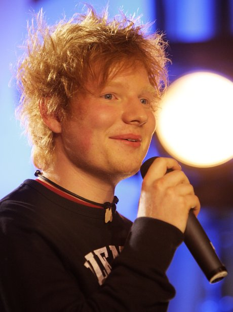 Ed Sheeran performs live at the 2012 BRIT awards nominations
