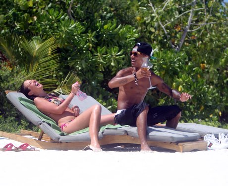Tulisa and Fazer on holiday