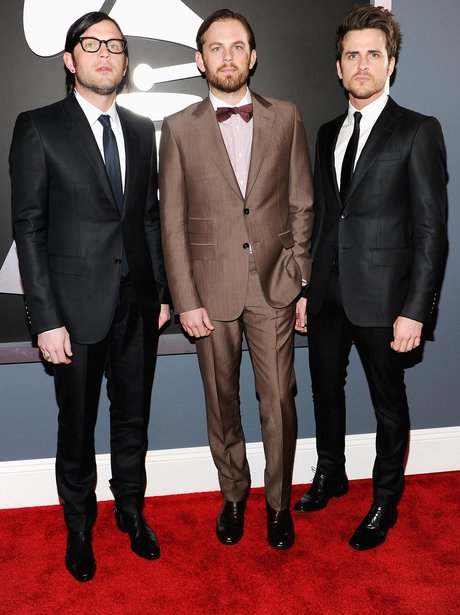 Kings of Leon arrive at the Grammy Awards.