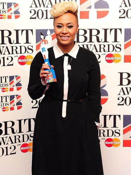 Emeli Sande at the BRIT Awards 2012
