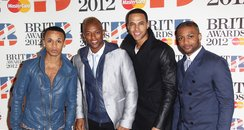 JLS arrive at the BRIT Awards 2012