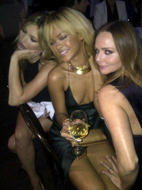 Rihanna, Stella McCartnet and Kate Moss