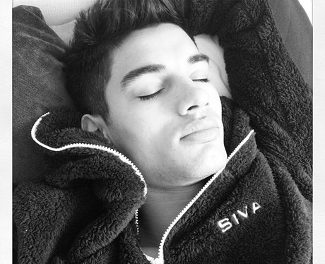 The Wanted's Siva Kaneswaran sleeping