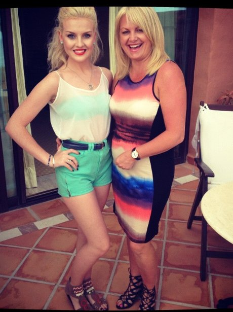 Perrie Edwrads of Little Mix with her mum