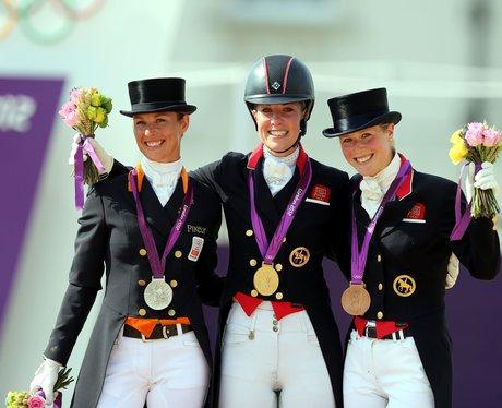 Charlotte Dujardin Celebrates Her Gold Medal Win In The