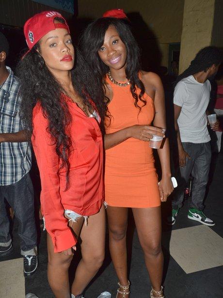Rihanna goes clubbing in Barbados.