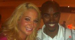 Tulisa with Mo Farah