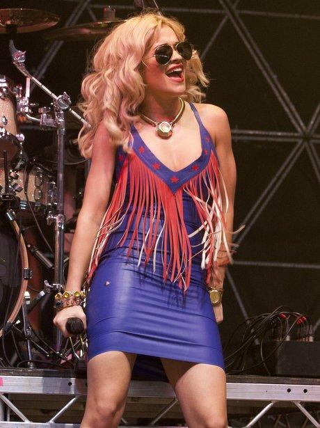 Rita Ora Performs At V Festival 2012