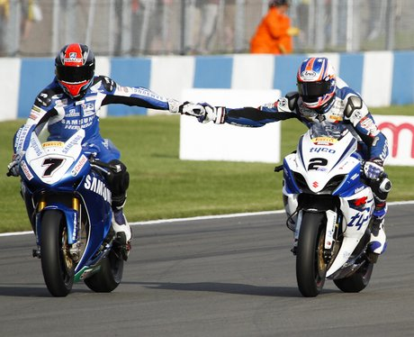BSB - Brookes and Laverty congratulate eachother o