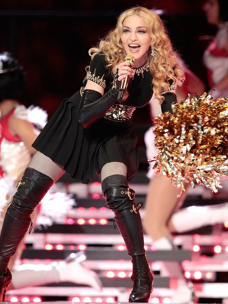 Madonna live on stage