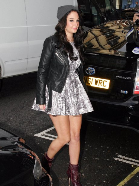 Tulisa Contostavlos out in Central London.