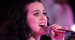 Katy Perry performs at a campaign rally for Presid