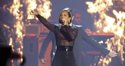 Alicia Keys on stage during the 2012 MTV Europe Mu