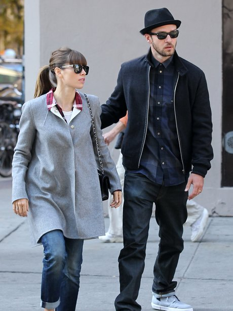 Justin Timbrelake and Jessica Biel together