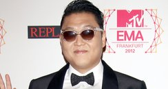 PSY arriving for the 2012 MTV Europe Music Awards