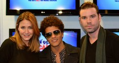 Bruno Mars with Dave and Lisa