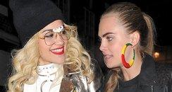 Rita Ora and Cara Delevingne in London