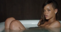 Rihanna naked in bathtub in Stay video