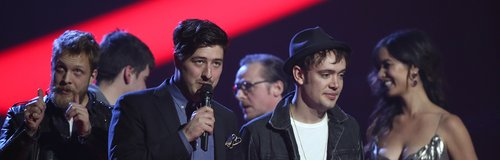 Mumford and Sons Brit Awards 2013 On Stage