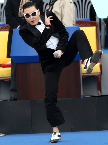 PSY performing at the South Korean presidential el