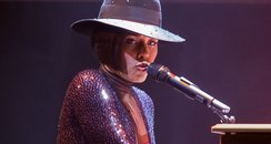 Artist Alicia Keys performs in concert