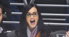 Katy Perry attends a hockey game
