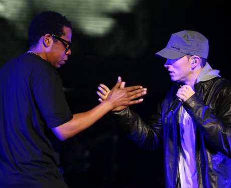 eminem and Jay-Z high fiving