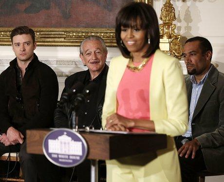 Justin Timberlake at the white house