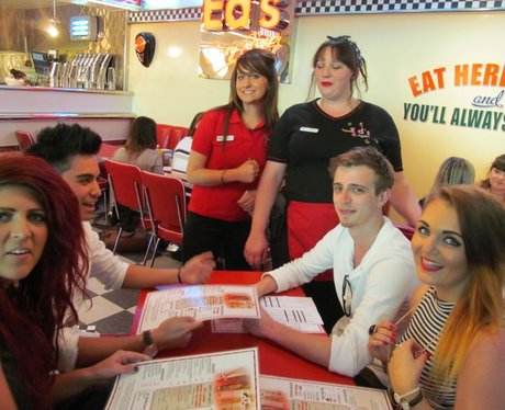 Gillies and Emily at Ed's Easy Diner