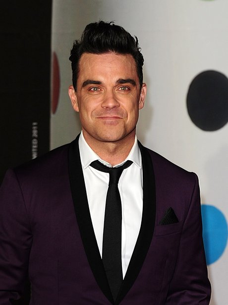 Robbie Williams at the BRIT Awards 2013