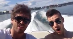 Liam Payne Topless On Boat