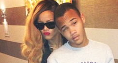 Rihanna with her brother