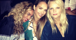 Beyonce and Jessica Alba Instagram