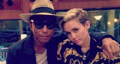 Pharrell Williams and Miley Cyrus on instagram