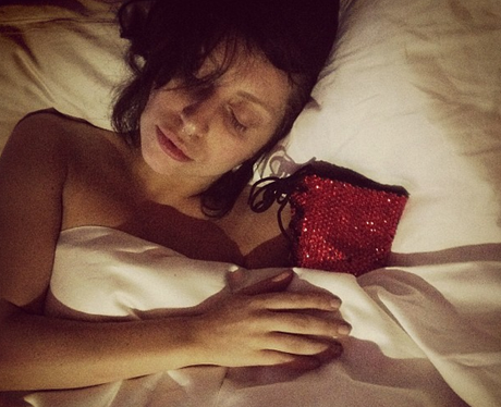 Lady Gaga shares a snap from her bed