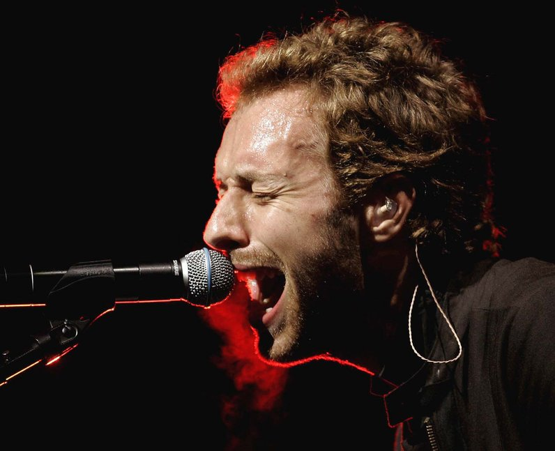 Chris Martin Glastonbury 2005