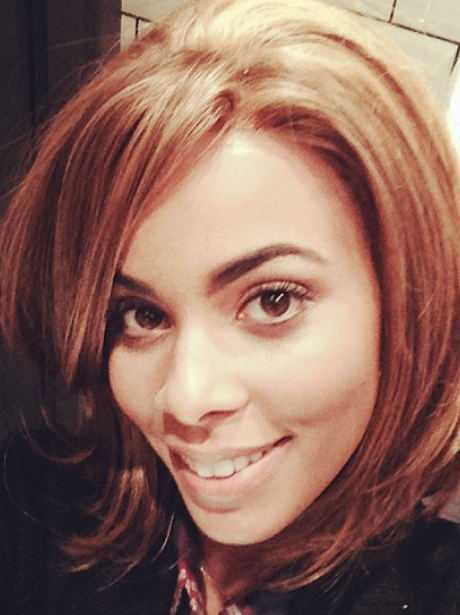 Rochelle Wiseman new short hair