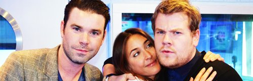 James Corden with Dave and Lisa