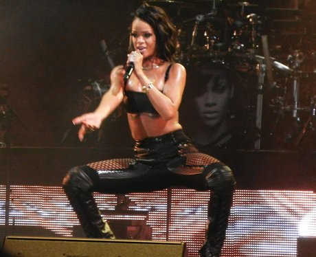 Rihanna wearing leather on tour
