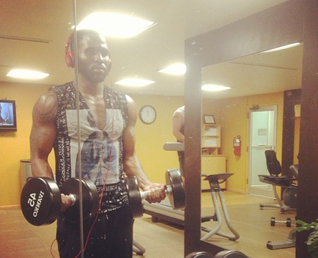 Jason Derulo at the gym working out