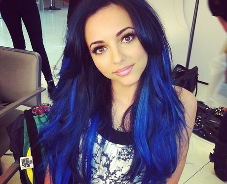 Jade Thirlwall shows off her blue hair