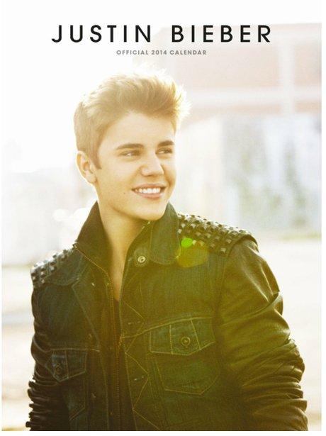 Justin Bieber's 2014 calendar cover