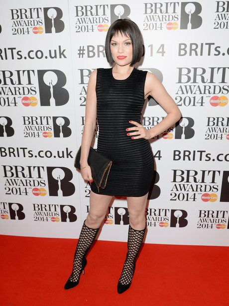 Jessie J at the BRIT Award 2014 nominations party