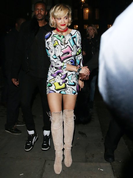 Rita Ora on a night out in London