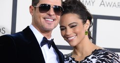 Robin Thicke and Paula Patton at the Grammy Awards